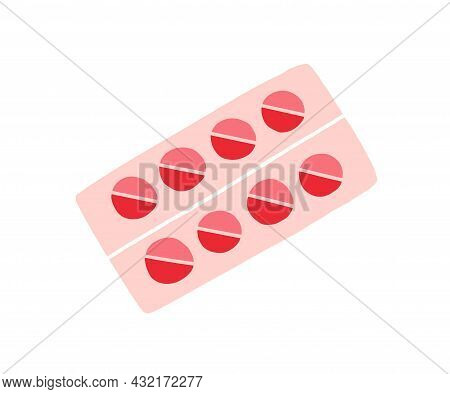 Pack Of Birth Control Pills. Blister Of Oral Hormonal Medicines For Contraception. Packet Of Contrac