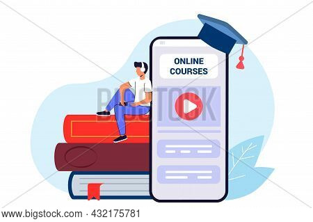 Studying Training E-learning Courses University Graduating People Studying At Home Online Education