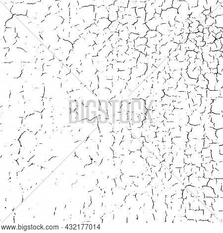 Craquelure Grunge Background. Cracked Paint Structure. Ceramic Tile Pattern. Exfoliate Surface. Cons