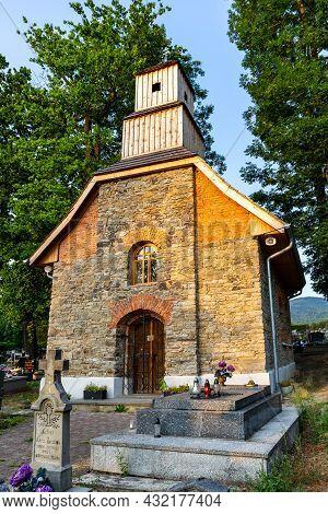 Milowka, Poland, 08.07.2021. Historic Renovated Brick Chapel From Xix Century Dedicated To Saint Mar