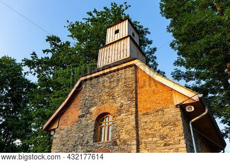 Historic Renovated Brick Chapel From Xix Century Dedicated To Saint Mary Magdalene In The Cemetery I