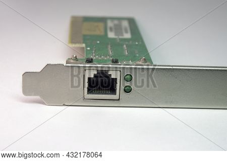 Ethernet Network Adapter With Green Indicator To Control Link, Internal, Steel Bar For Fixing In Com