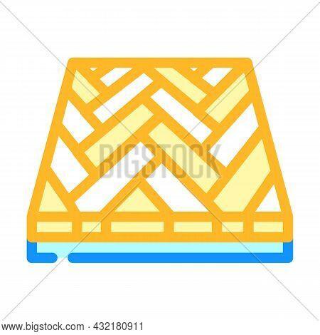 Parquet Floor Color Icon Vector. Parquet Floor Sign. Isolated Symbol Illustration