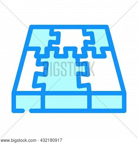 Rubber Cover Floor Color Icon Vector. Rubber Cover Floor Sign. Isolated Symbol Illustration