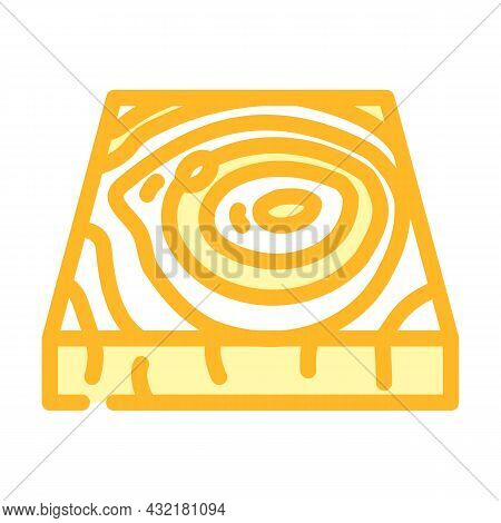 Wooden Floor Color Icon Vector. Wooden Floor Sign. Isolated Symbol Illustration