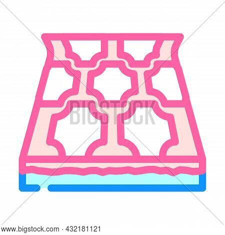 Linoleum Layer Floor Color Icon Vector. Linoleum Layer Floor Sign. Isolated Symbol Illustration