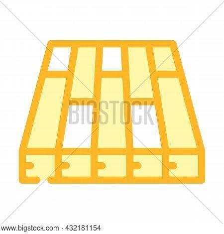 Batten Floor Color Icon Vector. Batten Floor Sign. Isolated Symbol Illustration