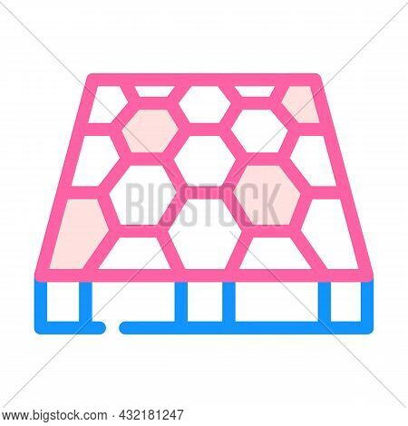 Sport Ground Floor Layer Color Icon Vector. Sport Ground Floor Layer Sign. Isolated Symbol Illustrat