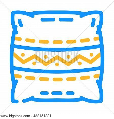 Pillows Making Color Icon Vector. Pillows Making Sign. Isolated Symbol Illustration