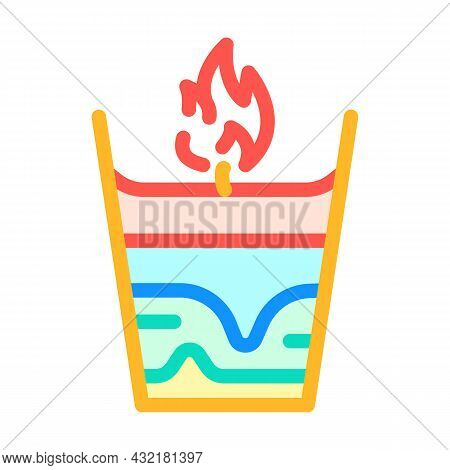 Candle Handiwork Color Icon Vector. Candle Handiwork Sign. Isolated Symbol Illustration
