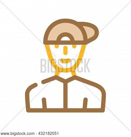 Childhood Teenager Man Color Icon Vector. Childhood Teenager Man Sign. Isolated Symbol Illustration