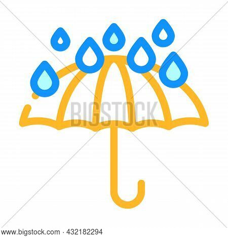 Keep Dry Care From Water Color Icon Vector. Keep Dry Care From Water Sign. Isolated Symbol Illustrat