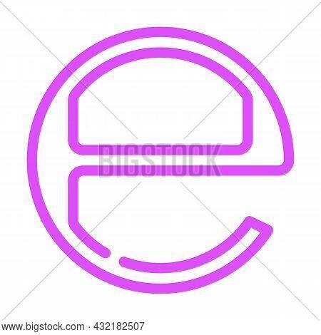 Estimated E Mark Color Icon Vector. Estimated E Mark Sign. Isolated Symbol Illustration
