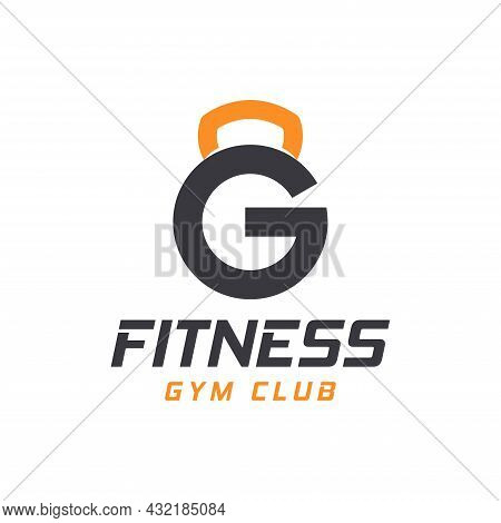 Letter G Logo With Barbell. Fitness Gym Logo. Fitness Vector Logo Design For Gym And Fitness.