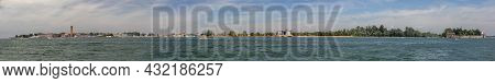 Panoramic View To The Lagoon And Islands Of Venice With Lido, Venice, Italy