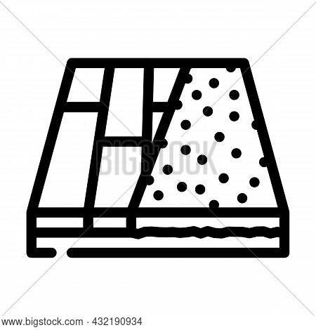 Various Materials Floor Line Icon Vector. Various Materials Floor Sign. Isolated Contour Symbol Blac