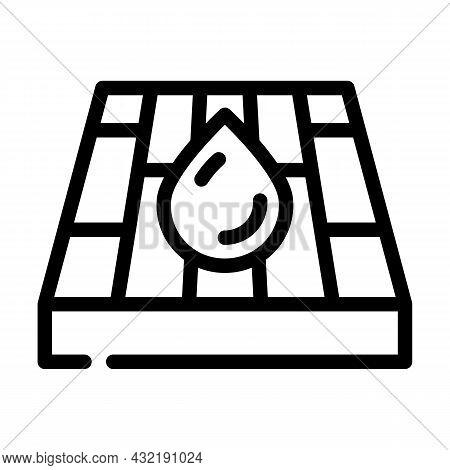 Waterproof Layer Floor Line Icon Vector. Waterproof Layer Floor Sign. Isolated Contour Symbol Black