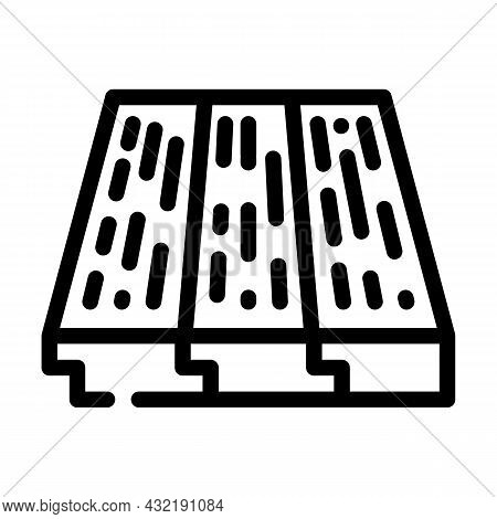 Wood Layer Floor Line Icon Vector. Wood Layer Floor Sign. Isolated Contour Symbol Black Illustration