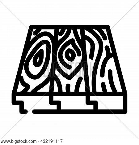 Patterned Flooring Line Icon Vector. Patterned Flooring Sign. Isolated Contour Symbol Black Illustra