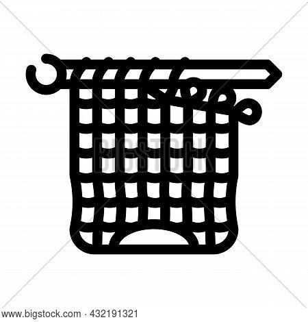 Knitting Artwork Hobby Line Icon Vector. Knitting Artwork Hobby Sign. Isolated Contour Symbol Black