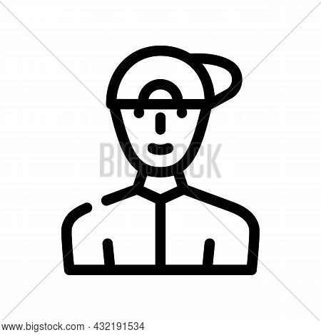Childhood Teenager Man Line Icon Vector. Childhood Teenager Man Sign. Isolated Contour Symbol Black