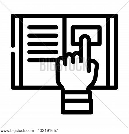 Research Instruction Line Icon Vector. Research Instruction Sign. Isolated Contour Symbol Black Illu