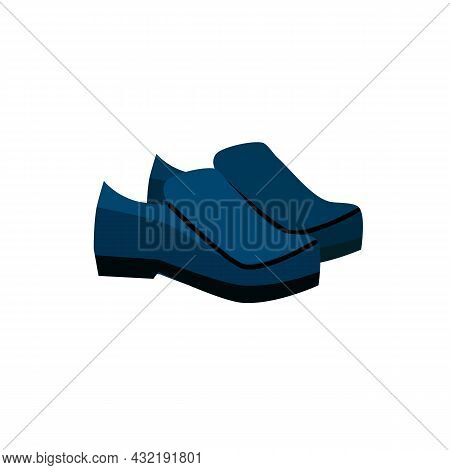 Vector Cartoon Flat Fashionable Shoes.new Trendy Beautiful Footwear Isolated On Empty Background-clo