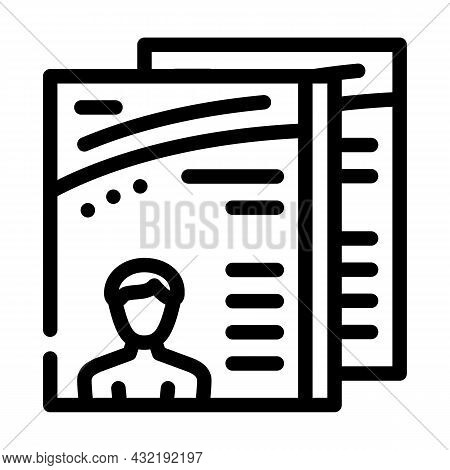 Magazine Selling Department Line Icon Vector. Magazine Selling Department Sign. Isolated Contour Sym