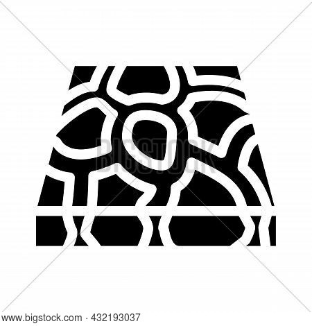 Stone Floor Glyph Icon Vector. Stone Floor Sign. Isolated Contour Symbol Black Illustration