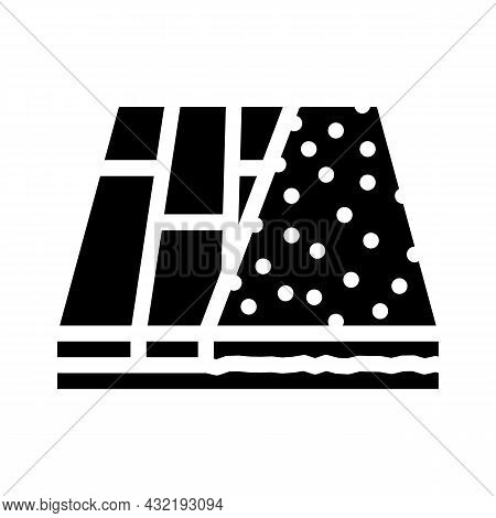 Various Materials Floor Glyph Icon Vector. Various Materials Floor Sign. Isolated Contour Symbol Bla