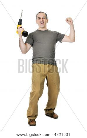 Handyman With A Drill