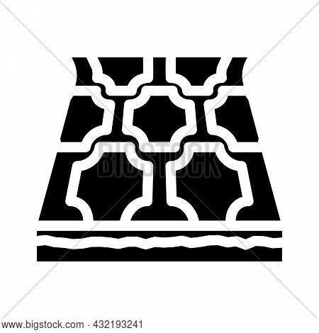 Linoleum Layer Floor Glyph Icon Vector. Linoleum Layer Floor Sign. Isolated Contour Symbol Black Ill