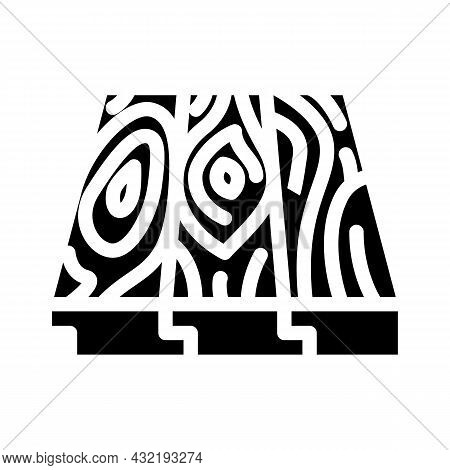 Patterned Flooring Glyph Icon Vector. Patterned Flooring Sign. Isolated Contour Symbol Black Illustr