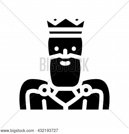 King Man Glyph Icon Vector. King Man Sign. Isolated Contour Symbol Black Illustration