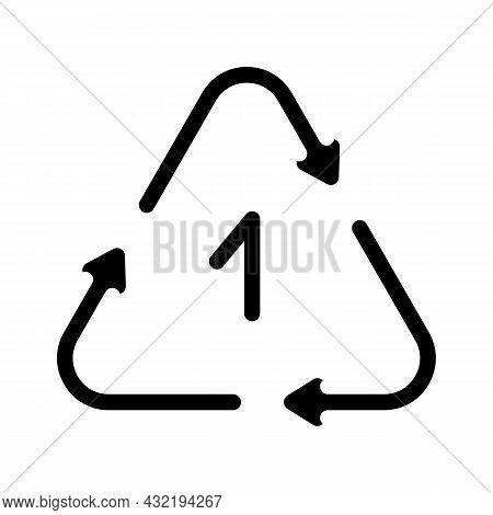 Once Reusing Plastic Packaging Glyph Icon Vector. Once Reusing Plastic Packaging Sign. Isolated Cont