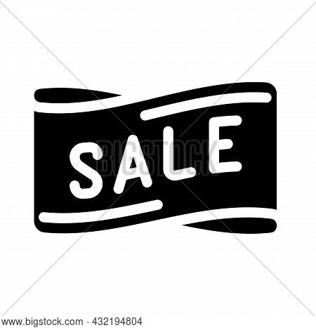 Band Sale Glyph Icon Vector. Band Sale Sign. Isolated Contour Symbol Black Illustration