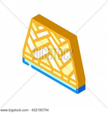 Parquet Floor Isometric Icon Vector. Parquet Floor Sign. Isolated Symbol Illustration