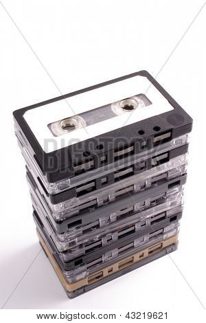 Photo of Audio tapes pile