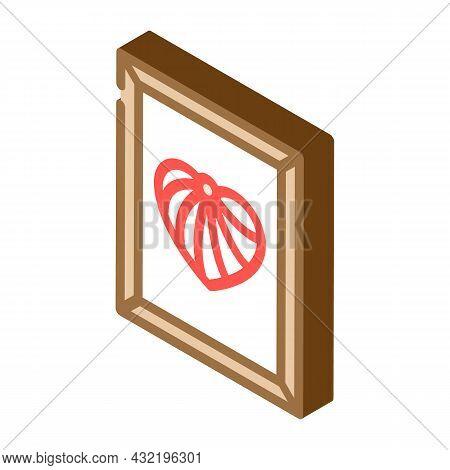 String Art Isometric Icon Vector. String Art Sign. Isolated Symbol Illustration