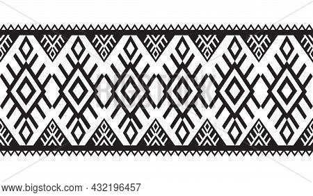 Ethnic Seamless Pattern Traditional Background Design For Carpet, Wallpaper, Wrapping, Batik
