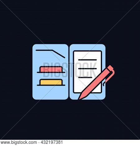 Portfolio Folder Rgb Color Icon For Dark Theme. Keeping Paper Documents Safely. Carrying Papers In C