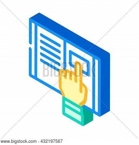 Research Instruction Isometric Icon Vector. Research Instruction Sign. Isolated Symbol Illustration