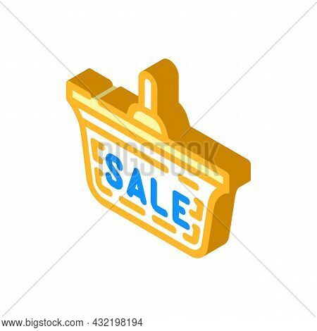 Ceiling Lamp Sale Isometric Icon Vector. Ceiling Lamp Sale Sign. Isolated Symbol Illustration