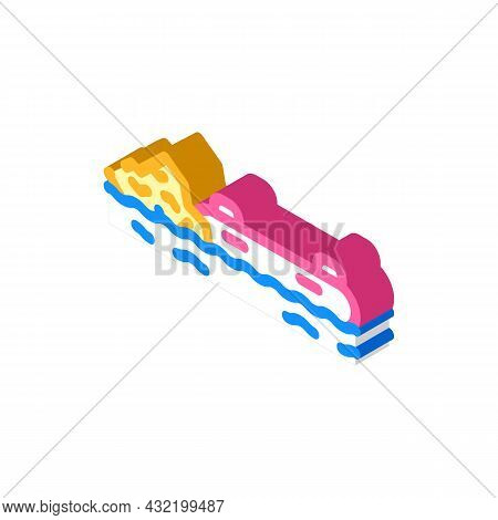Rafting Water Sport Isometric Icon Vector. Rafting Water Sport Sign. Isolated Symbol Illustration