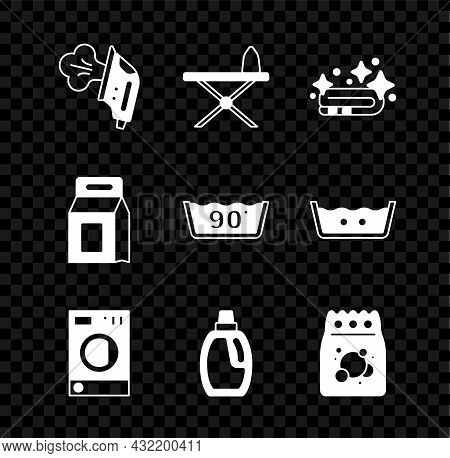 Set Electric Iron, Iron And Ironing Board, Towel Stack, Washer, Bottle For Cleaning Agent, Laundry D