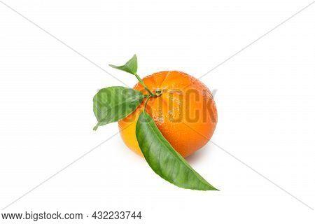 Fresh Tasty Mandarin Isolated On White Background
