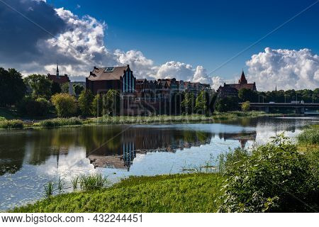 The Village Of Malbork On The Nogat River In Northern Poland