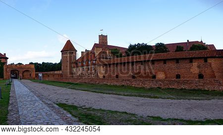 View Of The Historic Malbork Castle In Northern Poland