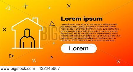 Line Shelter For Homeless Icon Isolated On Yellow Background. Emergency Housing, Temporary Residence
