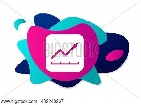 Color Financial Growth Increase Icon Isolated On White Background. Increasing Revenue. Abstract Bann